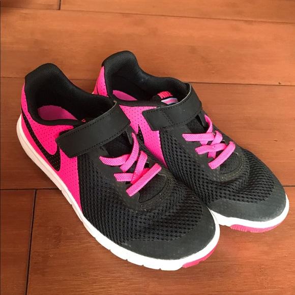 Girls Black Pink Nike Sneakers